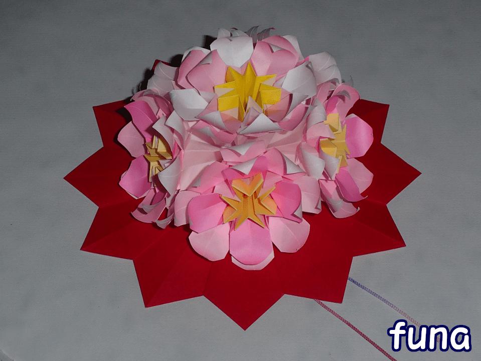 くすだま折りの花